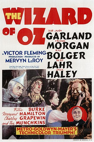 Musical film - ''The Wizard of Oz'' (1939 film) is considered one of the greatest movies of all time.