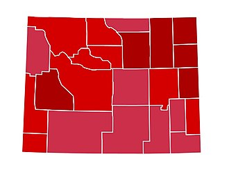 United States presidential election in Wyoming, 1984 - Image: WY1984