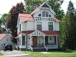 Waddington Historic District - Image: Waddington Historic District House on La Grasse St May 11