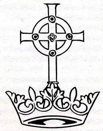 Welsh peers and baronets - The Cross of Neith  atop the Talaith Llywelyn.