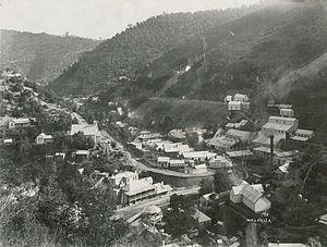 Walhalla, Victoria - Walhalla township in 1910