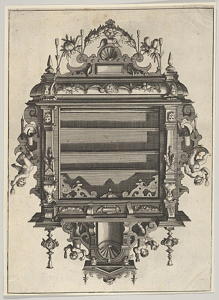 File:Wall-mounted Shelf Unit from 'Verscheyden Schrynwerck (...)' -'Plusieurs Menuiseries (...)'- MET DP830823.jpg