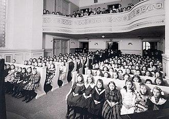 Wallinska skolan - Prayer hall in Wallinska skolan  (1908)