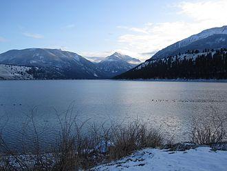 Wallowa Lake - The north end of Wallowa Lake in December.