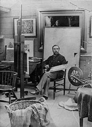 Walter Langley - Walter Langley in his studio
