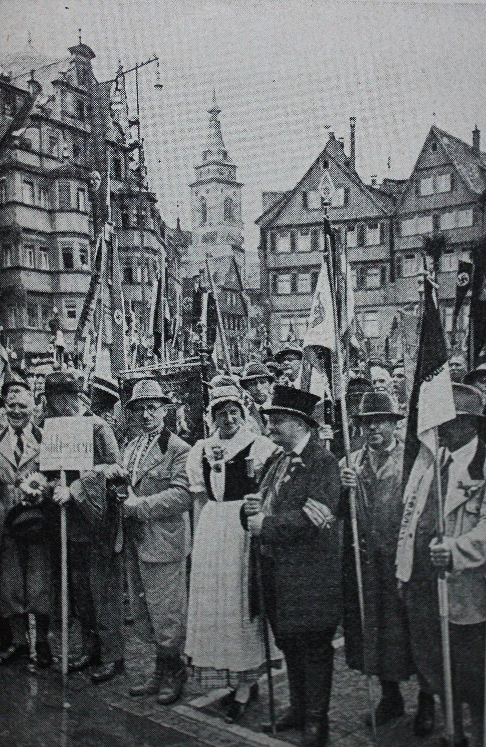 Wandertag Stuttgart 1938 Riesengebirgsverein Albverein