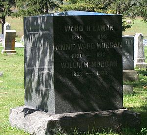 Ward Hill Lamon - Lamon's grave in Gerrardstown, West Virginia.
