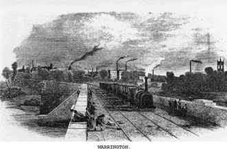 Warrington - Warrington after the coming of the railway, 1851