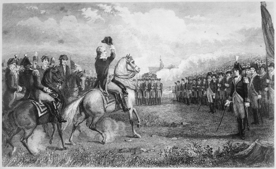 Washington taking command of the American Army at Cambridge, 1775 - NARA - 532874