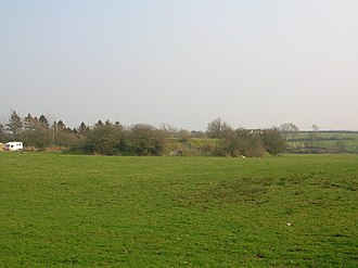 Knockentiber - The site of Greenhill quarry from the main road. 2007.