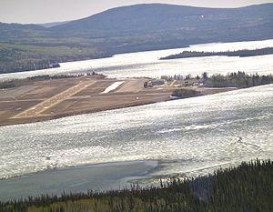 Watson Lake Airport - Watson Lake airport from the air