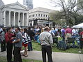 Wednesday at Square NOLA Mch 2010 Gallier Hall stage.JPG