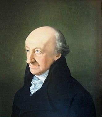 Christoph Martin Wieland - 1805 portrait of Christoph Martin Wieland by Ferdinand Carl Christian Jagemann