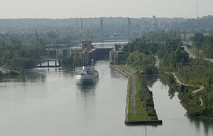 The Welland Canal is a ship canal in Canada