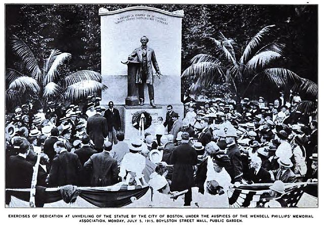 Открытие Мемориала Вендела Филлипса в Публичном парке Бостона в 1915г.