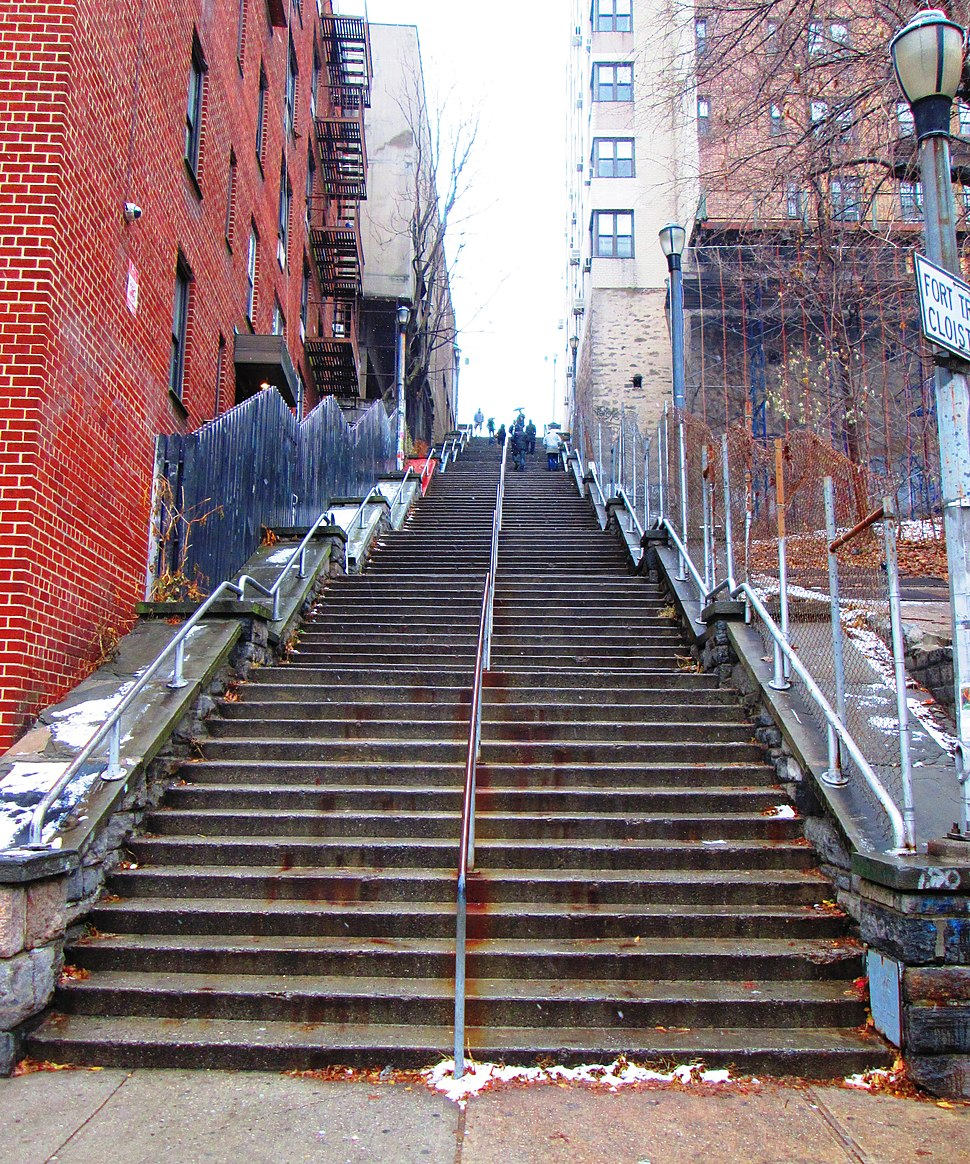 West 187th Street stairs from below