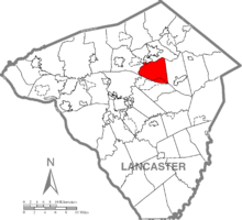 Map of Lancaster County, Pennsylvania highlighting West Earl Township