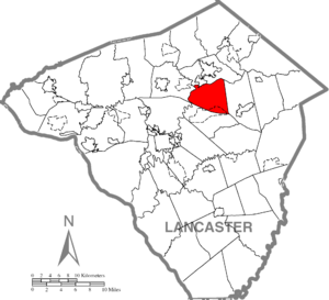 West Earl Township, Lancaster County, Pennsylvania - Image: West Earl Township, Lancaster County Highlighted