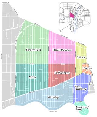 West End, Winnipeg human settlement in Manitoba, Canada