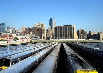 West Side Yard - Looking east across the West Side Yard toward Penn Station