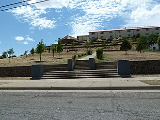 Western High School (Silver City, New Mexico) - Western High location in 2011.  Western New Mexico Centennial Hall dormitories are located at the top of the property which were erected in 1993.