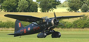 RAF Tempsford - A Westland Lysander of the type that was used to drop and pick up SOE agents from Occupied Europe