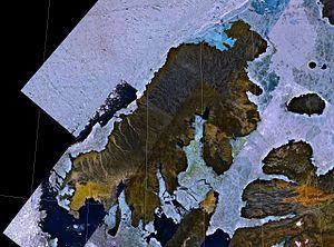 Prince Patrick Island - NASA landsat image of Prince Patrick Island
