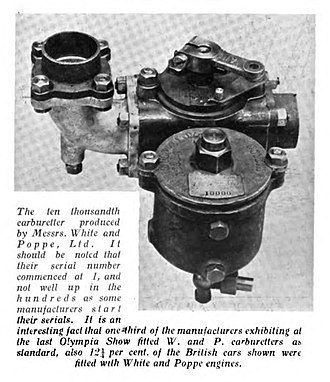 White and Poppe - carburetter 1910