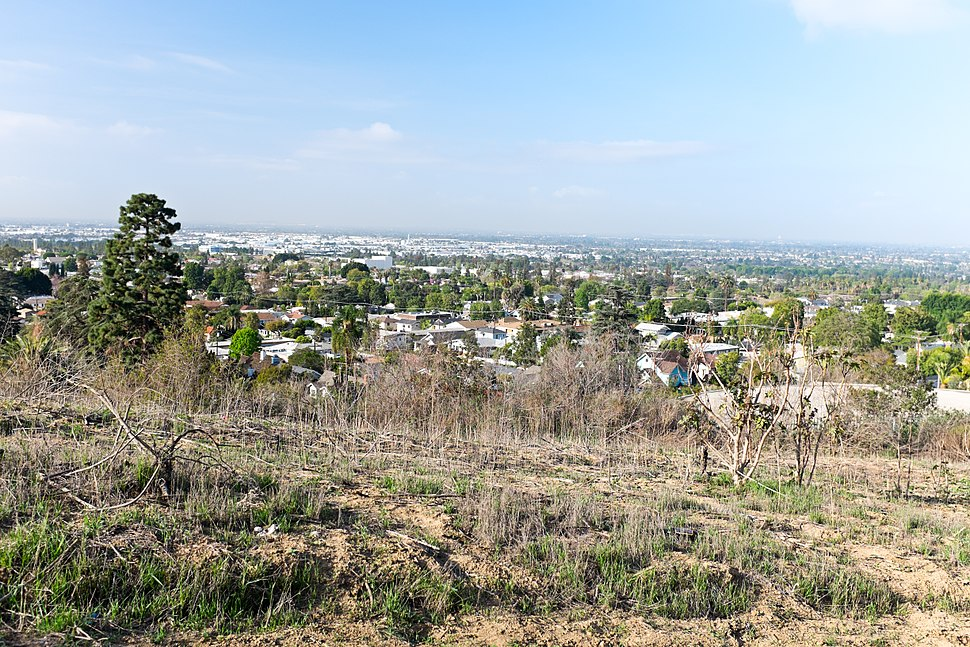 Whittier CA seen from Hellman park (Peppergrass) trail