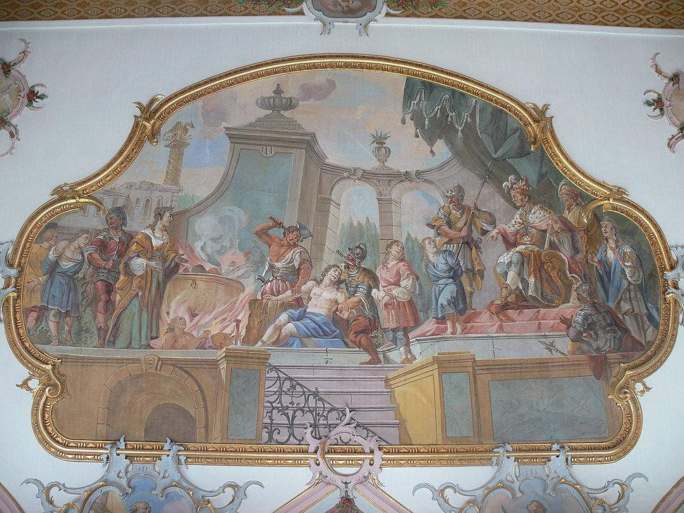 Wiggensbach St Pankratius Querschiff Süd Martyrium der Makkbäischen Brüder