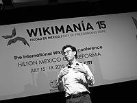 Wikimanía 2015 - Day 4 - Luis von Ahn conference - LMM (22).JPG