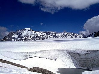 Wildstrubel - The Wildstrubel from the Plaine Morte Glacier