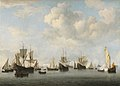 Willem van de Velde, the Younger, The Dutch Fleet in the Goeree Straits (Guinea) (1664).jpg