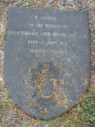 William Nicholson, 1st Baron Nicholson - Funerary monument, Brompton Cemetery, London
