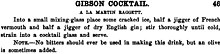 Gibson (cocktail) - Wikipedia, the free encyclopedia