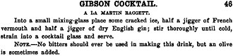 Gibson (cocktail) - William Boothby's 1908 Gibson Recipe