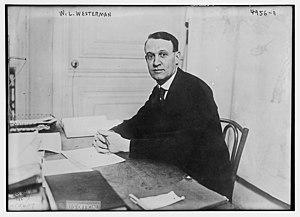 William Linn Westermann - William Linn Westermann in 1919