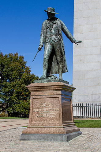 William Prescott - Col. Prescott's statue at Bunker Hill in Charlestown