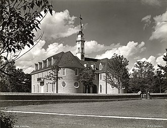 Williamsburg, Virginia - Capitol Building, from a silver gelatin photograph, c. 1934–1950