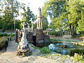 Wilson Park castle and fountain, Fayetteville, Arkansas.jpg