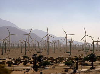 The Amazing Race 18 - The race's Starting Line was at the San Gorgonio Pass Wind Farm near Palm Springs, California.
