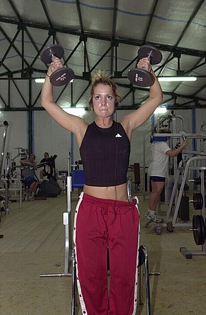 Sweatpants - Woman wearing tearaway pants