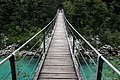Wooden bridge over Soča river.jpg