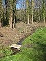 Woodland stream with small bridge - geograph.org.uk - 1804443.jpg