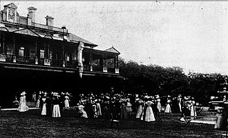 Woollahra House - A garden party given by Lady Paston-Cooper at Woollahra House in 1897.