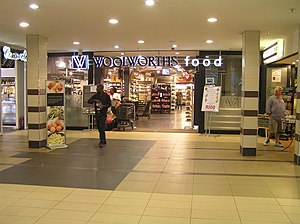 Woolworths (South Africa) - Woolworths food store in Johannesburg, showing the old branding.
