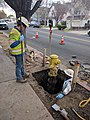 Workers replacing a fire hydrant in Campbell.gk.jpg
