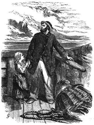 The Wreck of the Hesperus - Illustration by John Gilbert