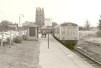 Wrexham Central railway station - Wrexham Central railway station in 1977