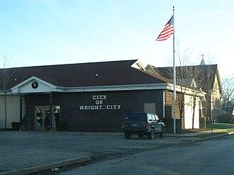 Wright City, Missouri - Wright City town hall.